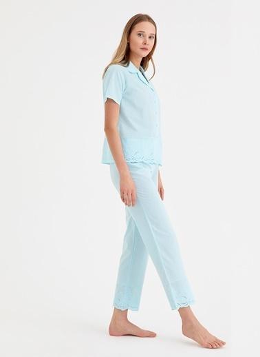 Suwen Pijama Takım Mavi